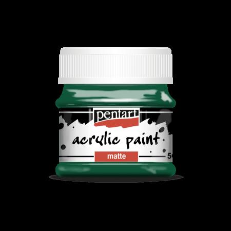 Vopsea acrilică mată 50 ml - Verde brad0