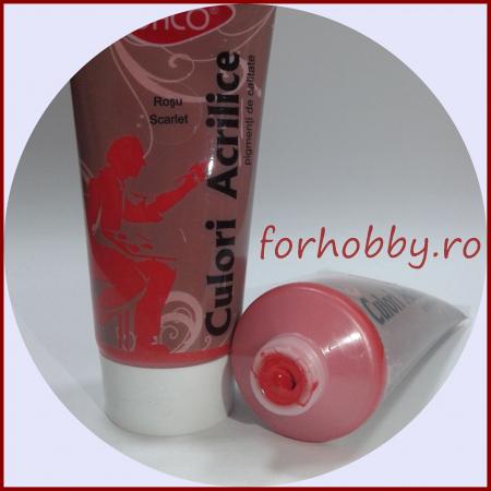 Vopsea acrilica 200 ml Daco - Rosu scarlet1