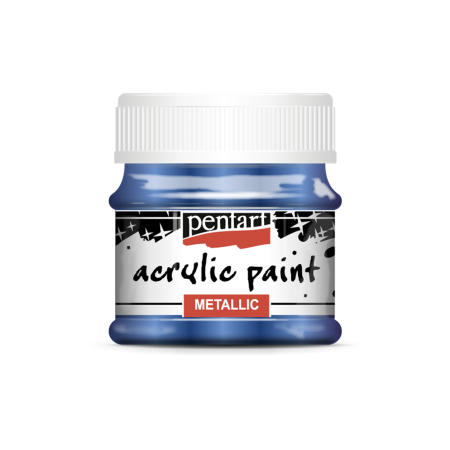 Vopsea acrilica metalizata 50 ml - Albastru cobalt1