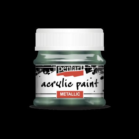 Vopsea acrilica metalizata 50 ml - Verde iedera1