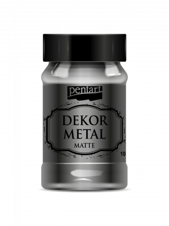 Vopsea decor metal mat 100 ml1