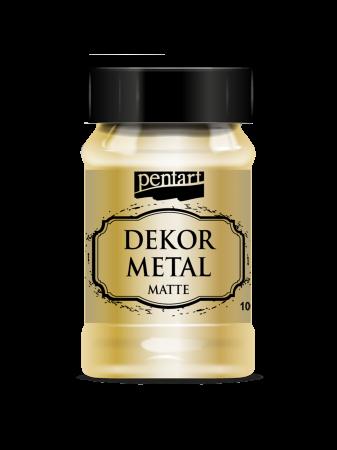 Vopsea decor metal mat 100 ml - Aur0