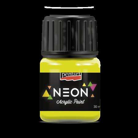 Vopsea fluorescentă Neon 30 ml - Galben0