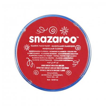 Vopsea pentru fata si corp Snazaroo Classic - Rosu (Bright Red)0