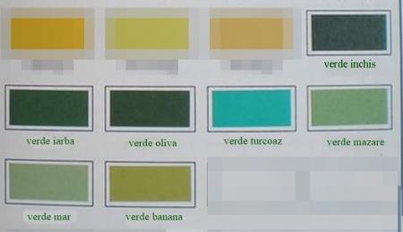 Vopsea pulbere pentru textile 5 g - Nuanțe de verde0