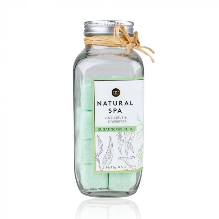 Scrub natural Accentra Sugar body scrub Natural Spa cubic, 16 x 15 g [0]