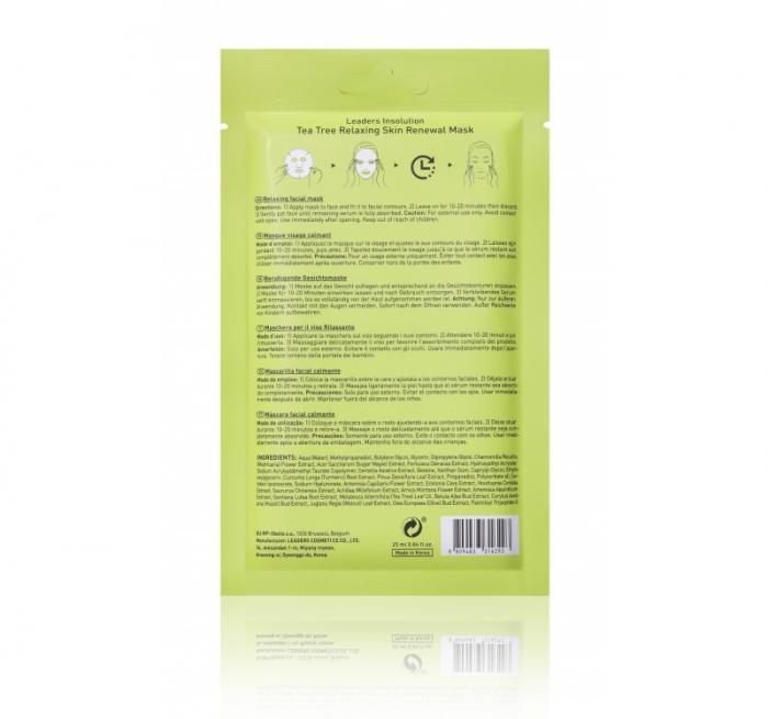 Masca pentru ten Leaders Tea Tree Relaxing Skin Renewal Mask, 25ml [1]