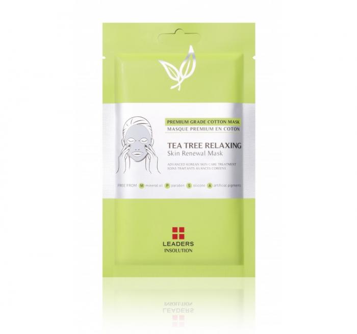 Masca pentru ten Leaders Tea Tree Relaxing Skin Renewal Mask, 25ml [0]