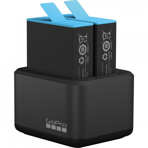 GoPro Incarcator Dual Battery Charger + Baterie extra pentru HERO9 Black [1]