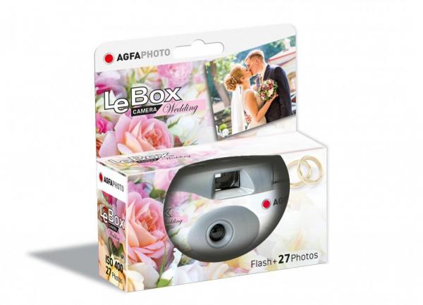 AgfaPhoto LeBox Wedding Aparat Foto Unica Folosinta Film Color 35mm (27 pozitii)  ISO400 0