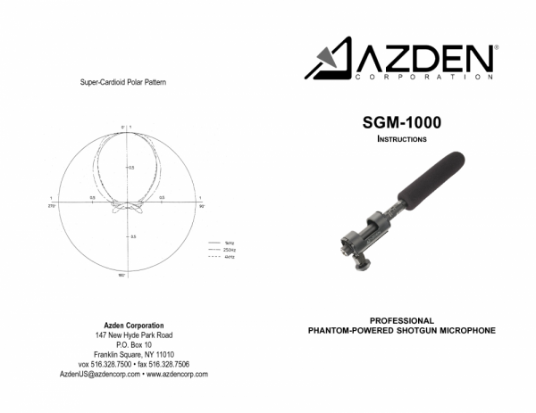 Azden SGM-1000 [1]