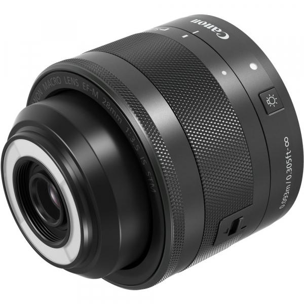 Canon EF-M 28mm f/3.5 Macro IS STM , obiectiv Mirrorless 3