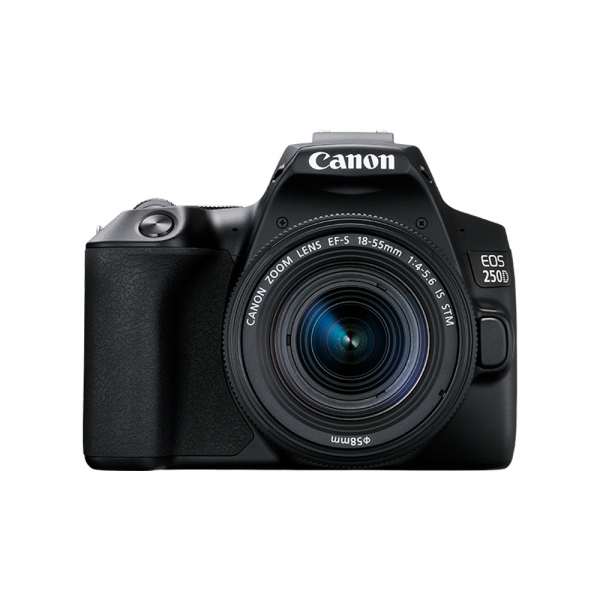 Canon EOS 250D negru + Canon EF-S 18-55mm f/4-5.6 IS STM + geanta foto + card SanDisk 32GB 90MB/s 1