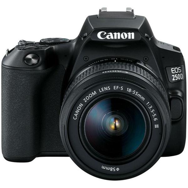 Canon EOS 250D negru + EF-S 18-55mm f/3.5-5.6 DC III 0