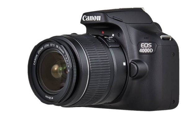 Canon EOS 4000D + EF-S 18-55mm III f/3.5-5.6 + geanta foto Dorr Action 4 [1]