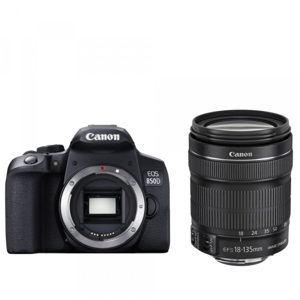 Canon EOS 850D 24Mpx CMOS 4K kit Canon EF-S 18-135mm f/3.5-5.6 IS Nano USM 8