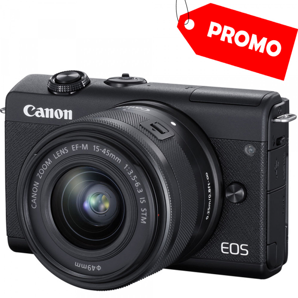 Canon EOS M200 Kit EF-M 15-45mm IS STM - Canon EF-M 55-200mm f4.5-6.3 1