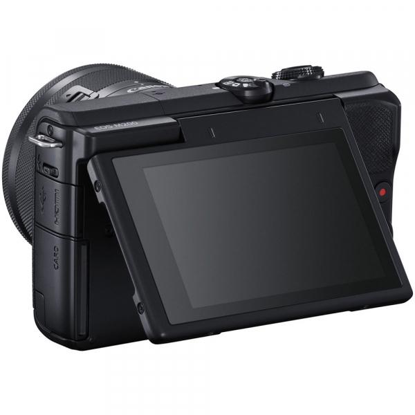 Canon EOS M200 Kit EF-M 15-45mm IS STM + EF-M 55-200mm f/4.5-6.3 IS STM- negru 5