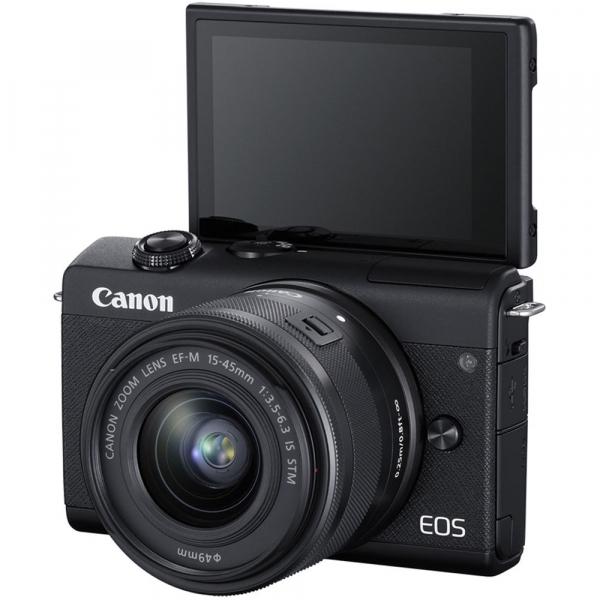 Canon EOS M200 Kit EF-M 15-45mm IS STM + EF-M 55-200mm f/4.5-6.3 IS STM- negru 4
