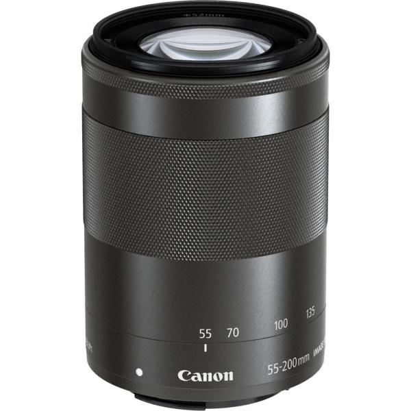 Canon EOS M200 Kit EF-M 15-45mm IS STM + EF-M 55-200mm f/4.5-6.3 IS STM- negru 9