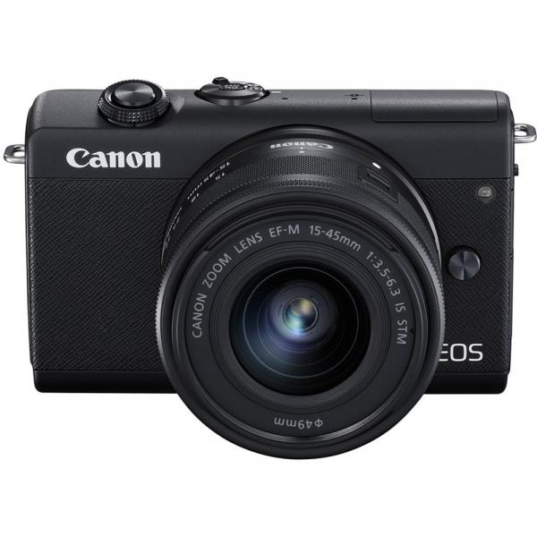 Canon EOS M200 Kit EF-M 15-45mm IS STM + EF-M 55-200mm f/4.5-6.3 IS STM- negru 1