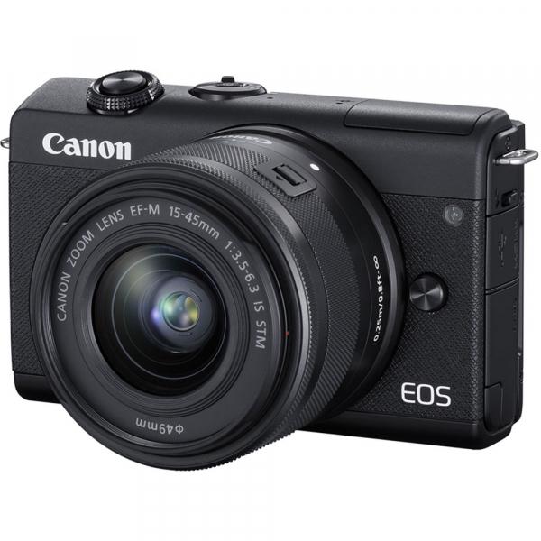 Canon EOS M200 Kit EF-M 15-45mm IS STM + EF-M 55-200mm f/4.5-6.3 IS STM- negru 8
