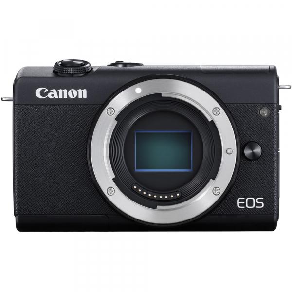 Canon EOS M200 Kit EF-M 15-45mm IS STM + EF-M 55-200mm f/4.5-6.3 IS STM- negru 2
