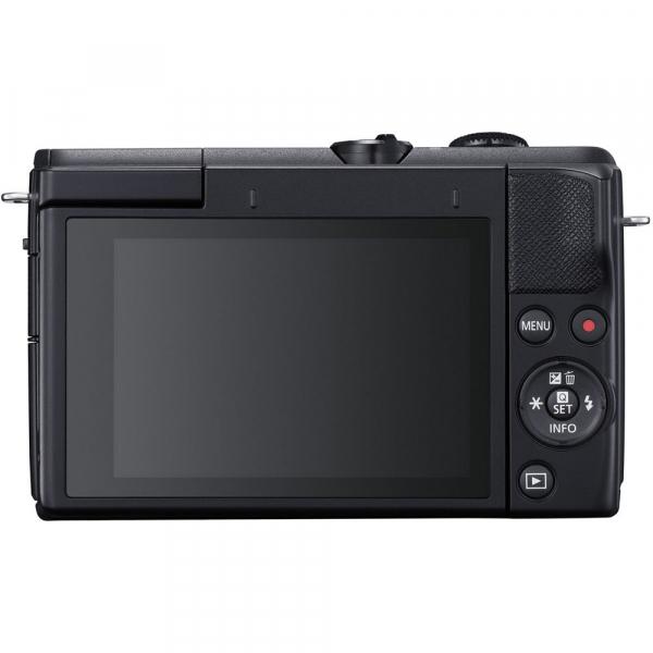 Canon EOS M200 Kit EF-M 15-45mm IS STM + EF-M 55-200mm f/4.5-6.3 IS STM- negru 3
