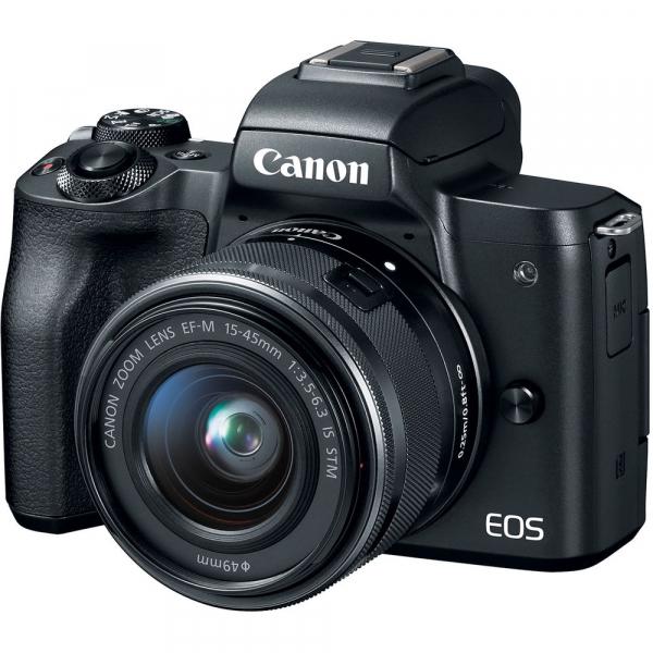 Canon EOS M50 + Canon 15-45mm IS negru EF-M 55-200mm f4.5-6.3 IS STM 2
