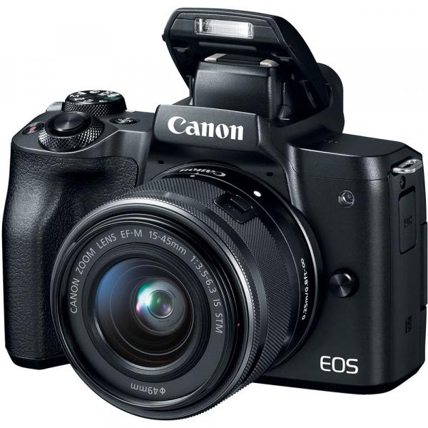 Canon EOS M50 + Canon 15-45mm IS negru EF-M 55-200mm f4.5-6.3 IS STM 3