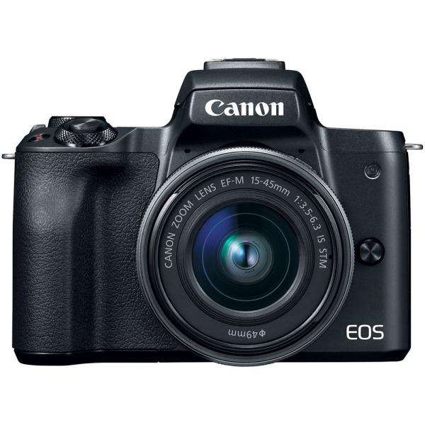 Canon EOS M50 + Canon 15-45mm IS negru EF-M 55-200mm f4.5-6.3 IS STM 1
