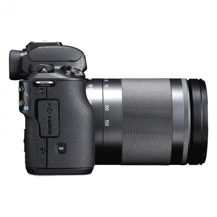 CANON EOS M50 MARK II Aparat foto Mirrorless Kit cu Canon EF-M 18-150mm F3.5-6.3 IS STM, Negru [2]