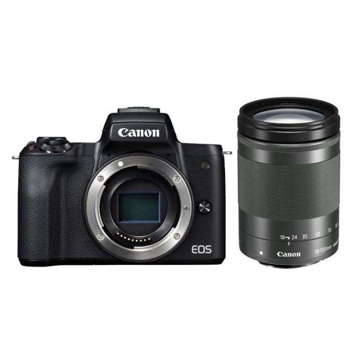 CANON EOS M50 MARK II Aparat foto Mirrorless Kit cu Canon EF-M 18-150mm F3.5-6.3 IS STM, Negru [1]