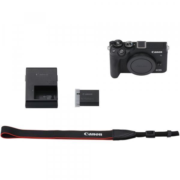 Canon EOS M6 Mark II body, 32.5MP, 4K - negru 4