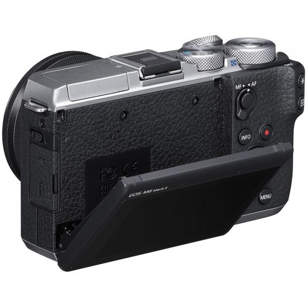Canon EOS M6 Mark II Kit EF-M 15-45mm IS STM + vizor EVF-DC2- argintiu 4
