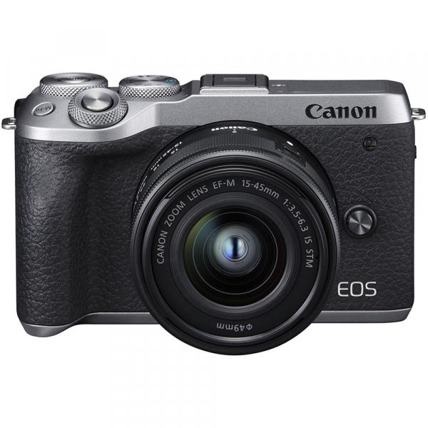 Canon EOS M6 Mark II Kit EF-M 15-45mm IS STM + vizor EVF-DC2- argintiu 6