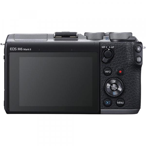 Canon EOS M6 Mark II Kit EF-M 15-45mm IS STM + vizor EVF-DC2- argintiu 3