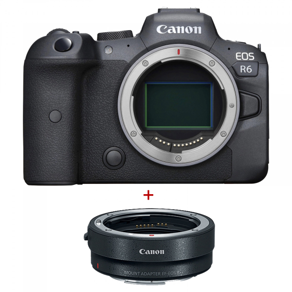 Canon EOS R6, Aparat Mirrorless Full Frame, 20Mpx, 4K - Kit cu Canon Inel Adaptor EF- EOS R 0