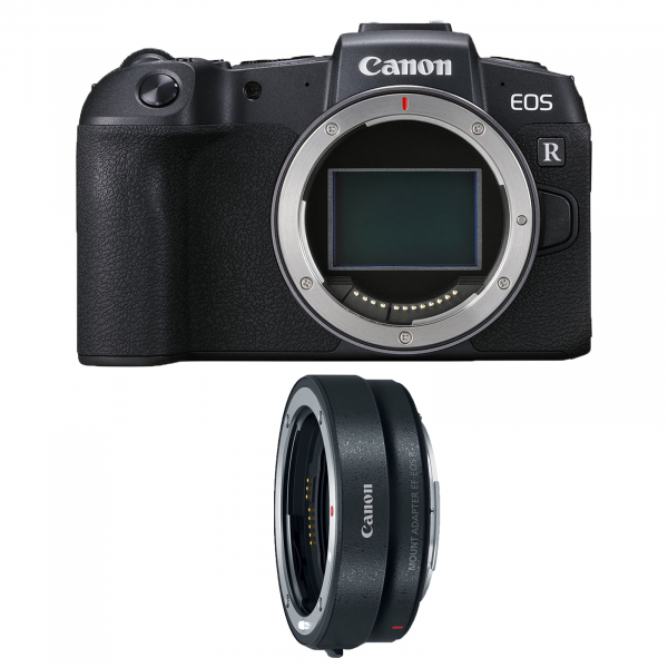 Canon EOS RP, Mirrorless 26MP, 4K - body + Adaptor Standard Canon EF-EOS R 1