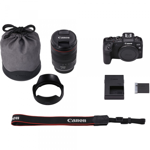 Canon EOS RP Mirrorless Kit cu Canon RF 24-105mm f4 L IS USM + Adaptor Standard Canon EF-EOS R 5