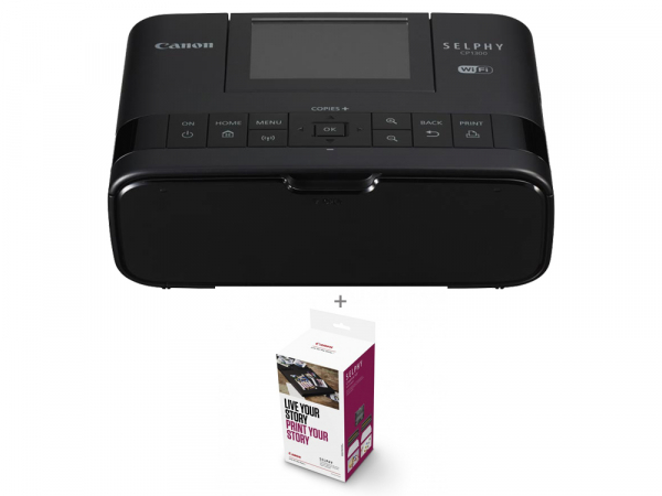 Canon SELPHY CP1300 - imprimanta foto 10x15cm Wi-Fi, negru + Kit Creative Hartie si Cerneala 0