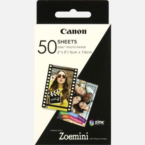 Canon Zoemini ZP-2030 -Hartie Foto Instant Zink 50 Coli 5 x 7,6cm 0