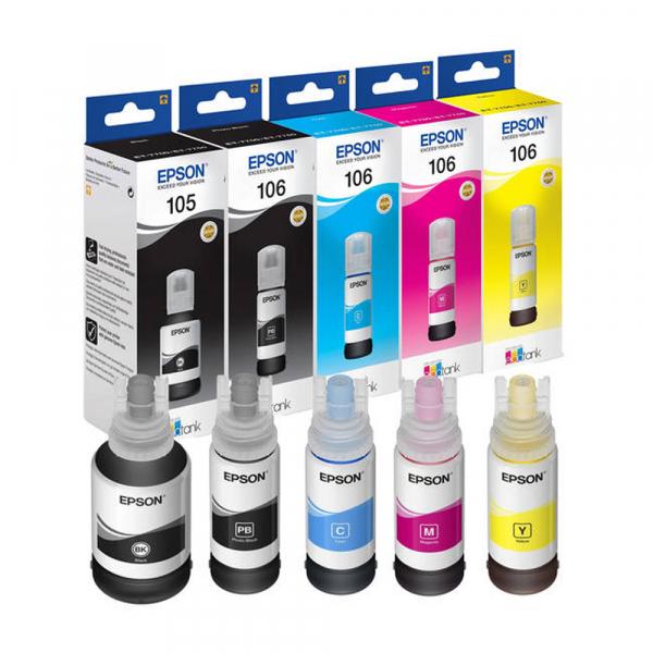 Cartuş Cerneala Black tip Pigment Epson 105 negru  - 105 ECOTANK PIGMENT BLACK INK BOTTLE [1]