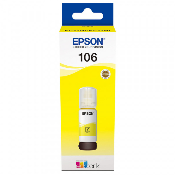 Cartuş Cerneala Yellow tip Photo Epson 106 EcoTank  - 106 ECOTANK PHOTO YELLOW INK BOTTLE 0