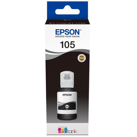 Cartuş Cerneala Black tip Pigment Epson 105 negru  - 105 ECOTANK PIGMENT BLACK INK BOTTLE [0]