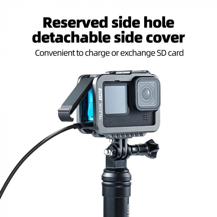 Carcasa/Cage din aluminiu pentru GoPro 9 - GP-FMS-901 [5]