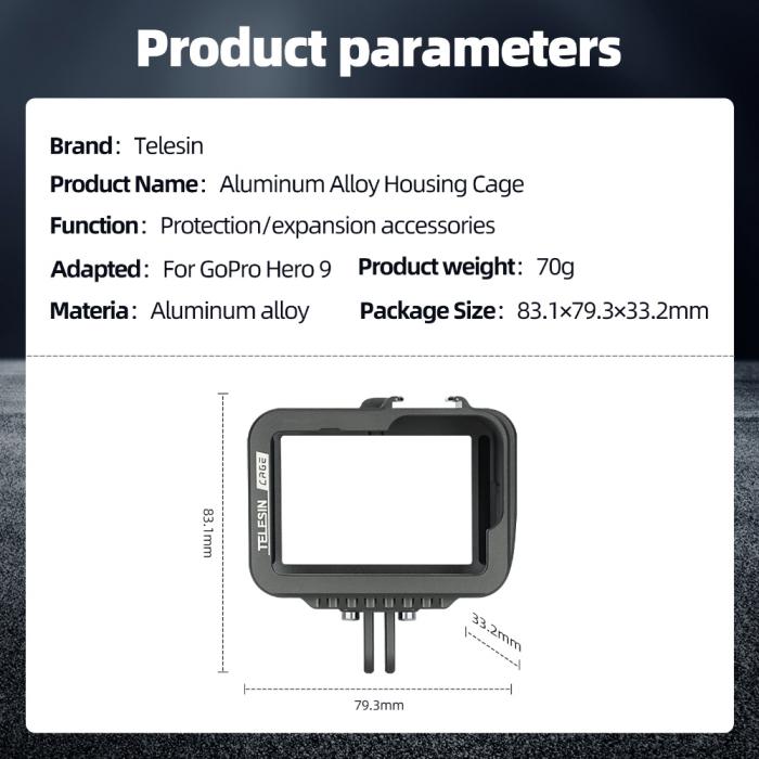 Carcasa/Cage din aluminiu pentru GoPro 9 - GP-FMS-901 [7]