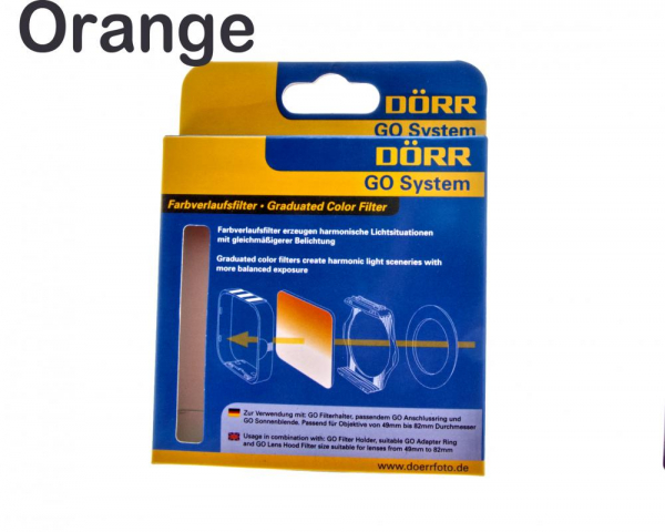 Dorr GO filtru orange pentru fotografia alb-negru ,tip Cokin 0