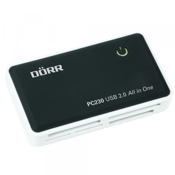 Dorr PC230 - cititor carduri CF/SD/microSD/MS/XD/M2 USB 2.0 (990322) 0