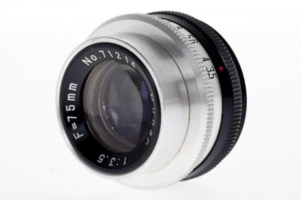 Dunar 75mm f/3.5 obiectiv pentru aparat de marit (S.H) 2